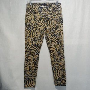 7 for all mankind leopard print skinny jeans Sz 29